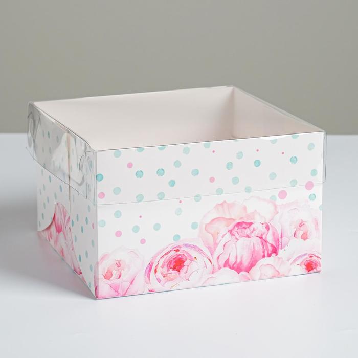 Коробка для капкейка «Для самой прекрасной» 16 × 16 × 10 см
