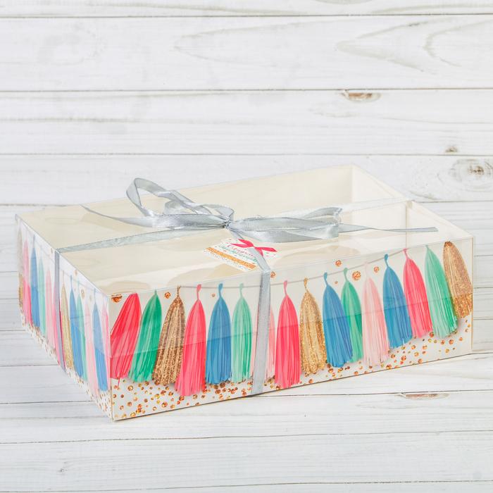 Коробка для капкейка «Праздник!» 16 × 23 × 7.5 см