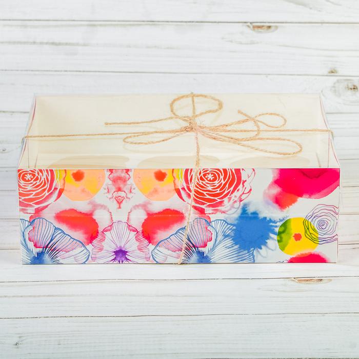 Коробка для капкейка «Ярких эмоций», 16 х 23 х 7,5 см