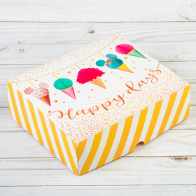 Box for confectionery, Happy days, 17 × 20 × 6 cm