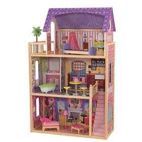 Домик из дерева для кукол «Кайла», с мебелью, 10 предметов