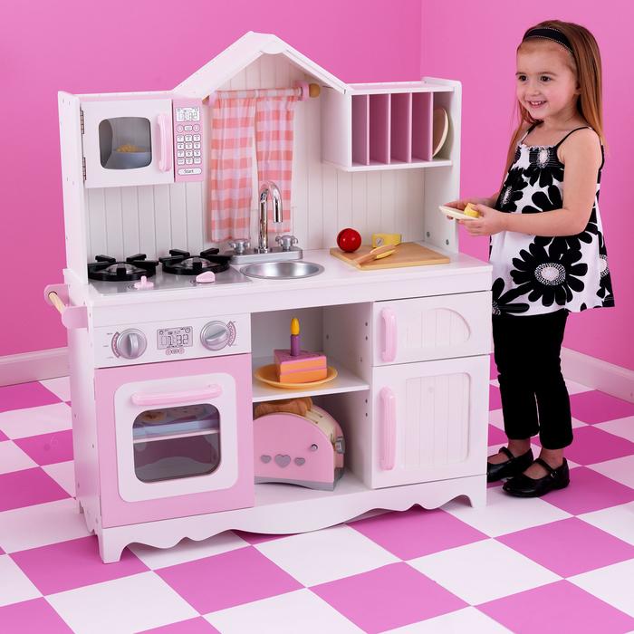 Игровая кухня для девочки из дерева «Модерн»