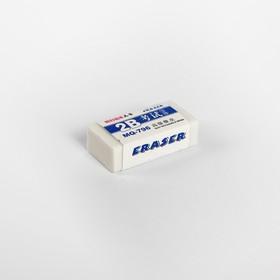 Ластик прямоугольный 2В белый малый в бумажном держателе Ош