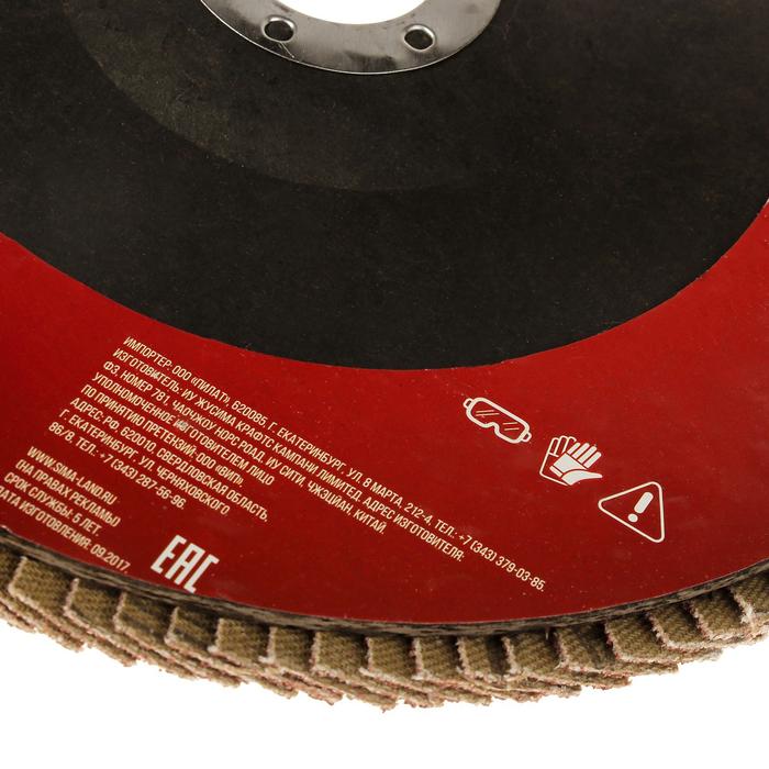 Круг лепестковый торцевой LOM, 180 × 22 мм, Р40
