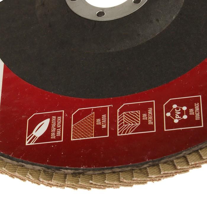 Круг лепестковый торцевой LOM, 180 × 22 мм, Р120
