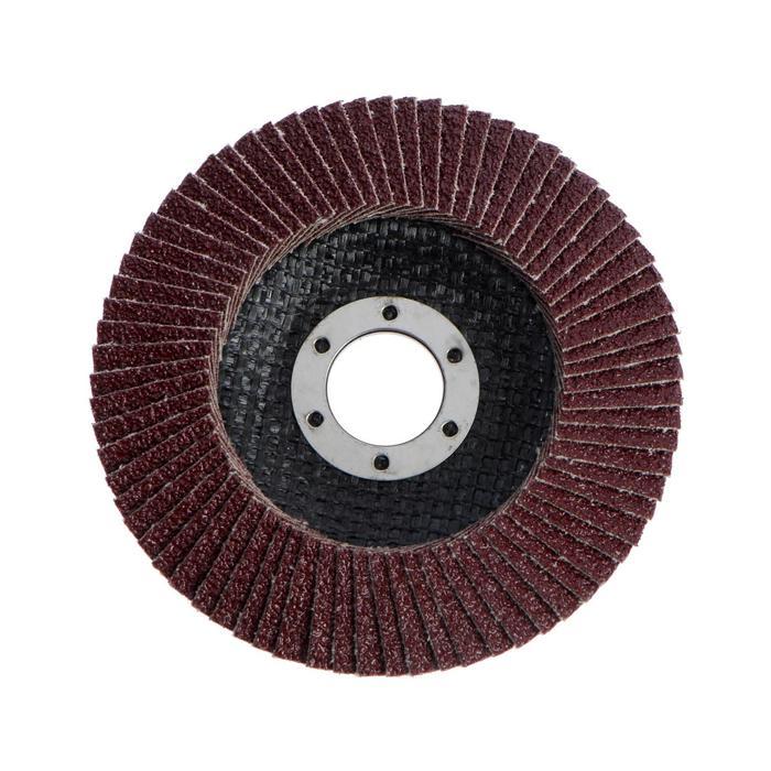 Круг лепестковый торцевой конический LOM, 115 × 22 мм, Р40