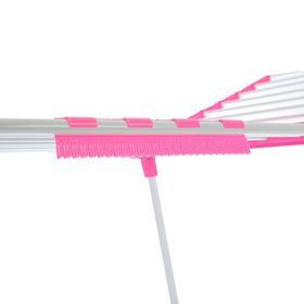 Сушилка для белья напольная, металлическая окрашенная 166×62×97 см, рабочая длина 15 м, цвет МИКС - фото 4635028