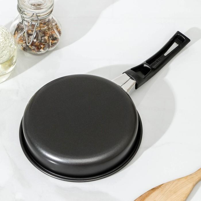 """Сковорода 14 см """"Навин"""", антипригарное покрытие, бакелитовая ручка"""