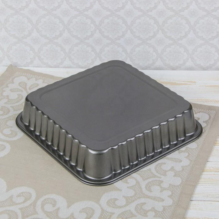 """Форма для выпечки с антипригарным покрытием """"Волнистый квадрат. Жаклин"""" 25,5х5 см"""