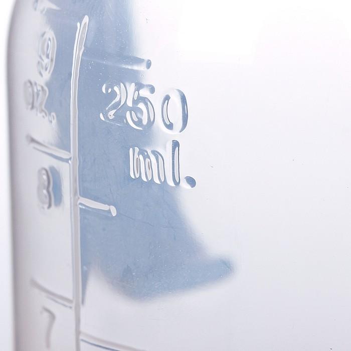 Бутылочка для кормления «Сыночек» с ручками, 250 мл, от 0 мес., цвет голубой