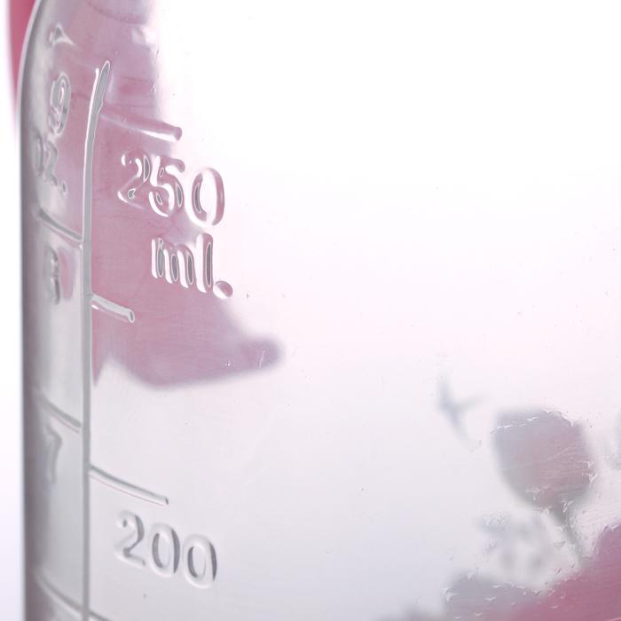 Бутылочка для кормления «Любимая доченька» с ручками, 250 мл, от 0 мес., цвет розовый