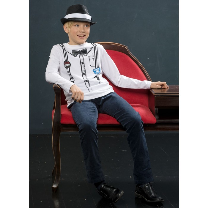 Джемпер для мальчика, рост 116 см, цвет белый