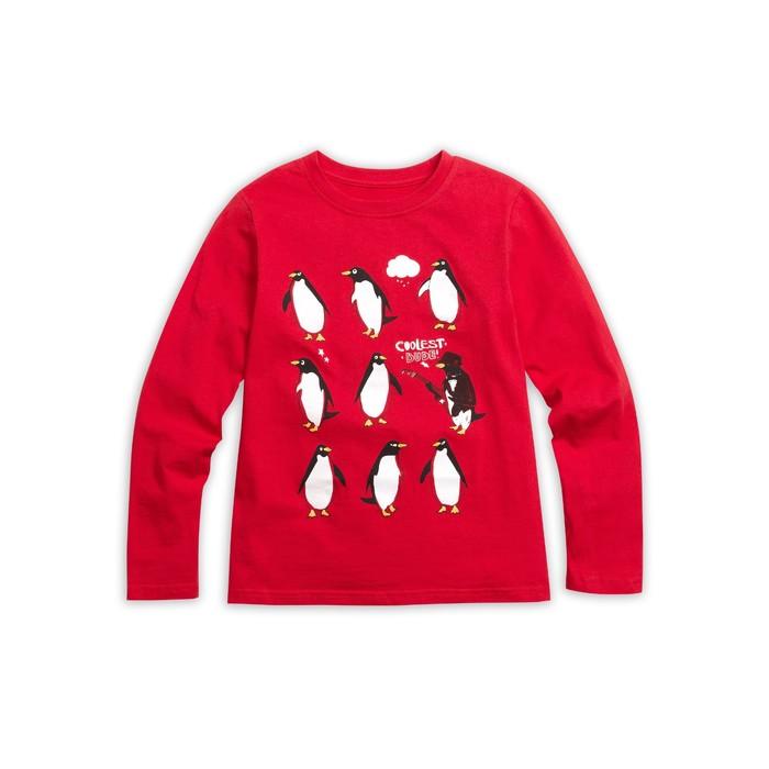 Джемпер для мальчика, рост 128 см, цвет малиновый