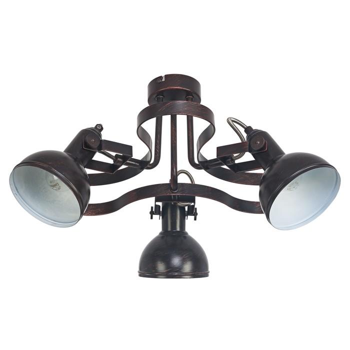 "Люстра ""Бастиан"" 3 лампы 60W E14 золото-коричневый 52х52х26 см."