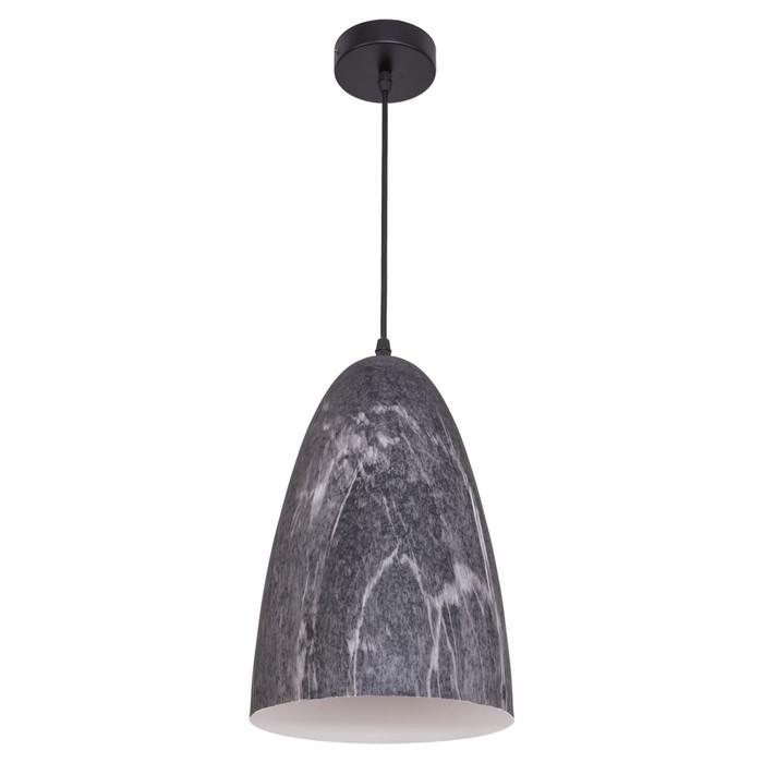 "Люстра подвесная  ""Сиена"" 1 лампа E27 40W черный 20х20х90 см"