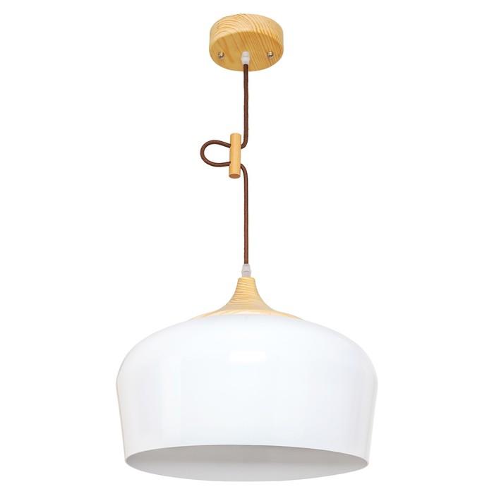 """Люстра подвесная  """"Азера"""" 1 лампа E27 40W белый 33х33х10 см"""