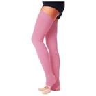 Гетры для танцев №5, без носка и пятки, L=70 см, цвет розовый