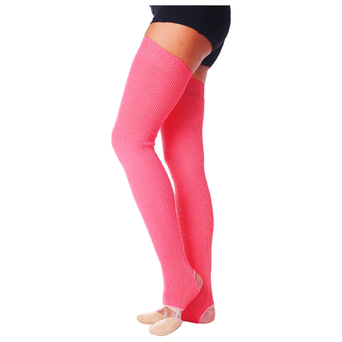 Гетры для танцев №5, без носка и пятки, L= 70 см, цвет коралловый