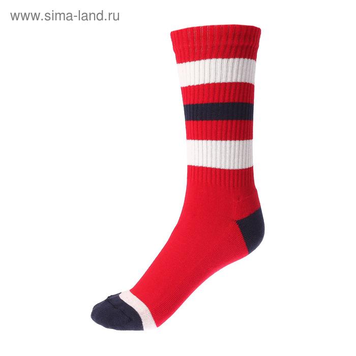 Носки спортивные Спорт 4 цвет красный,  р. 41-43