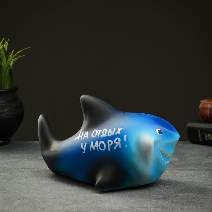 "Копилка ""Акула Турист"" 19см"