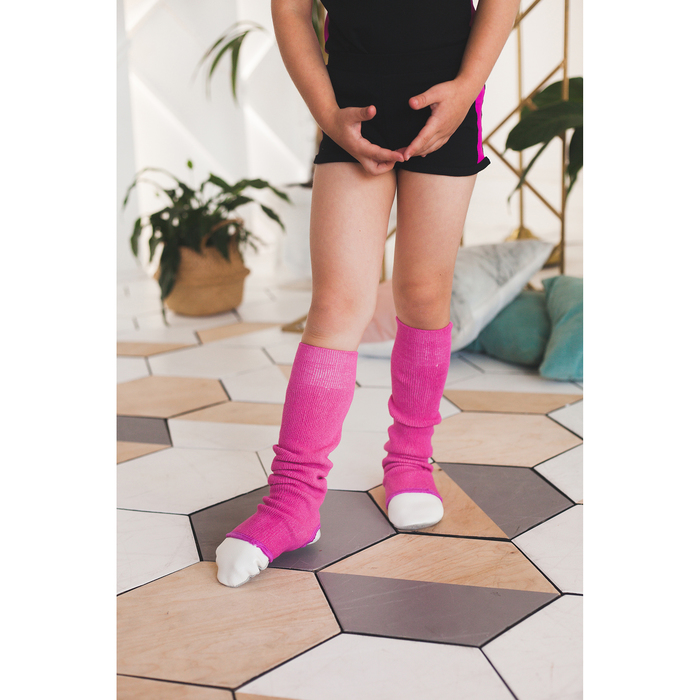 Гетры для танцев №5, без носка и пятки, L= 50 см, цвет фуксия
