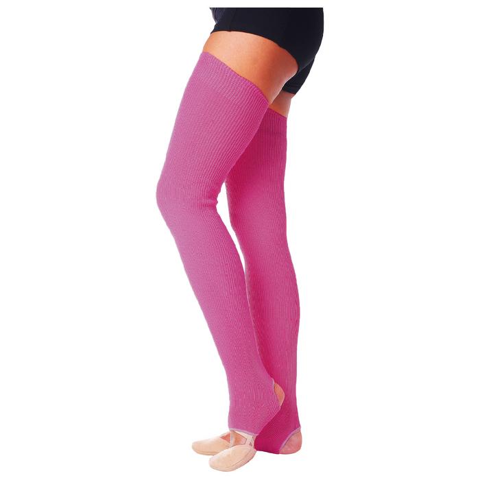Гетры для танцев №5, без носка и пятки, L= 70 см, цвет фуксия
