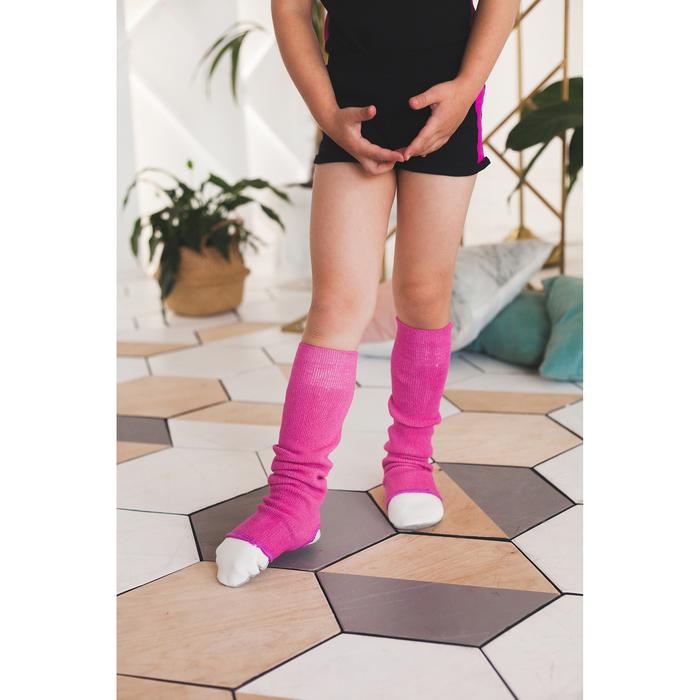 Гетры для танцев №5, без носка и пятки, L= 80 см, цвет фуксия