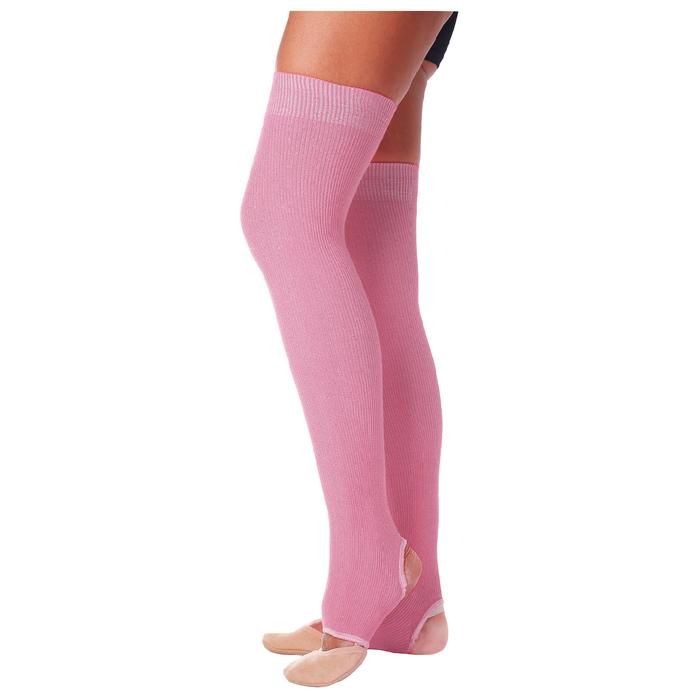 Гетры для танцев №5, без носка и пятки, L= 60 см, цвет розовый