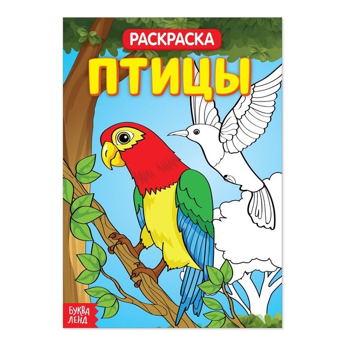 """Раскраска """"Птицы""""  20 стр."""