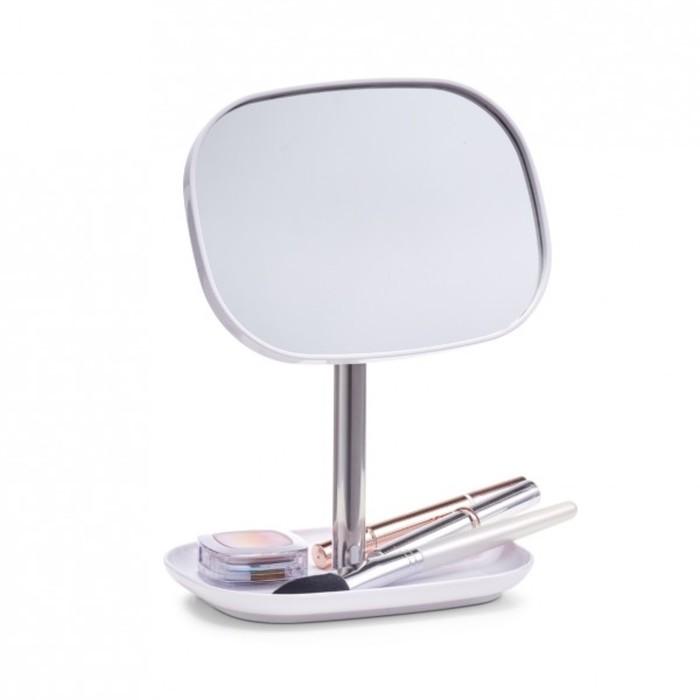 Зеркало 17,8х12,8х24 см., белый, металл/пластик, 18732