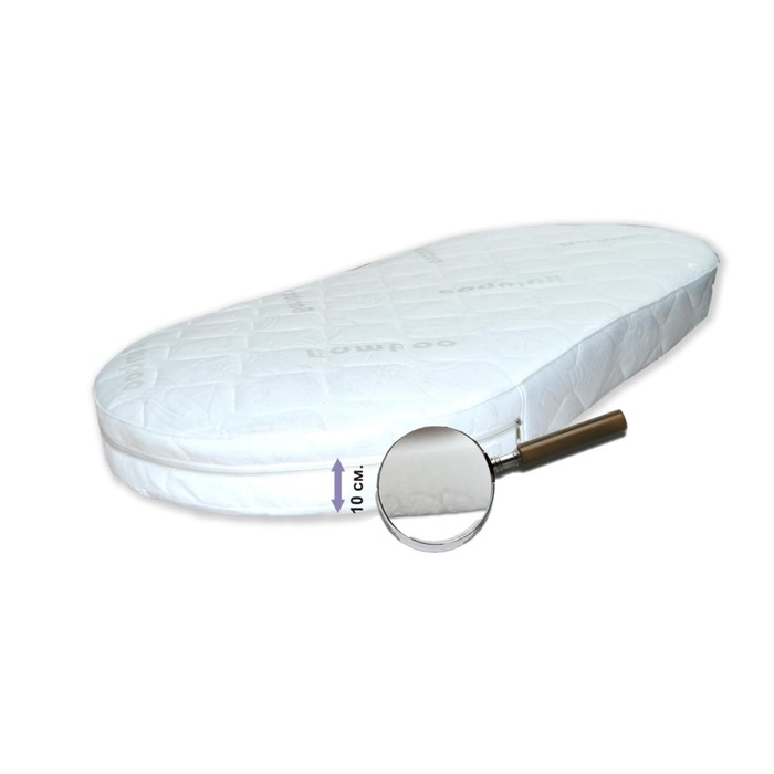 """Матрас овальный """"Яркий сон"""", размер 65х125 см, высота 10 см, жаккард"""