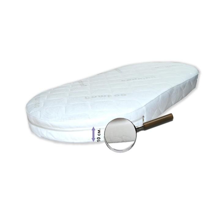 """Матрас овальный """"Яркий сон"""", размер 75х125 см, высота 10 см, жаккард"""
