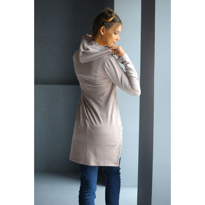 Туника женская WF25217 цвет бежевый меланж, рост 158-164, р-р 44