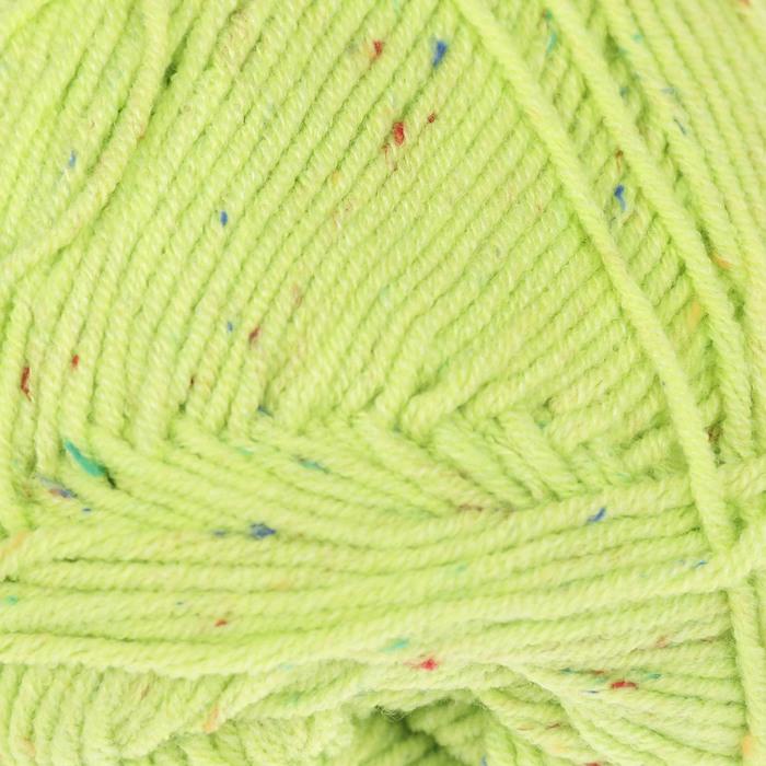 """Пряжа """"Cotton Gold Tweed"""" 57% хлопок, 40% акрил, 3% полиэстер 330м/100гр (612 кислотный)"""