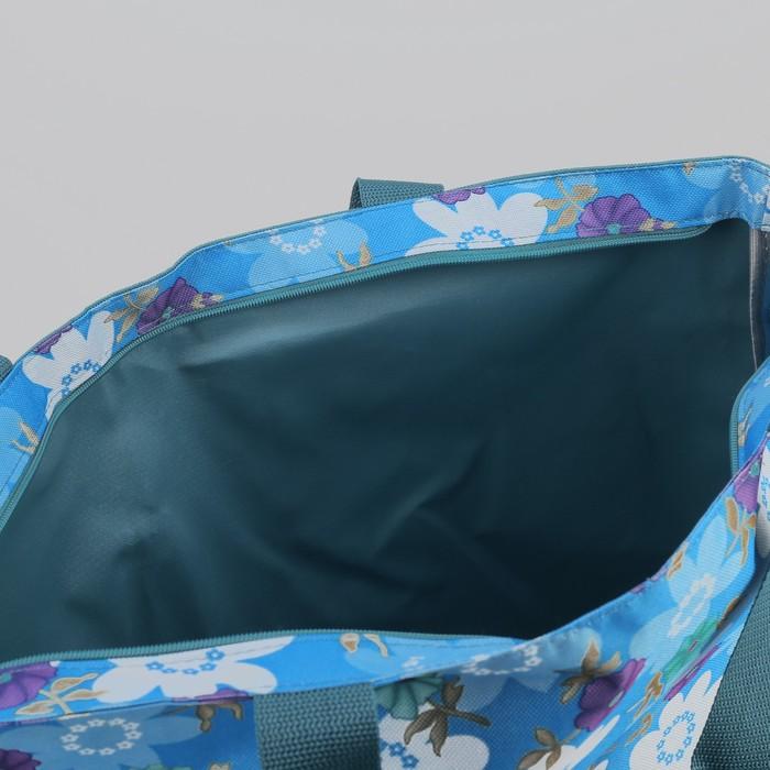 Сумка пляжная на молнии Bagamas, 1 отдел, цвет сиреневый/морской волны