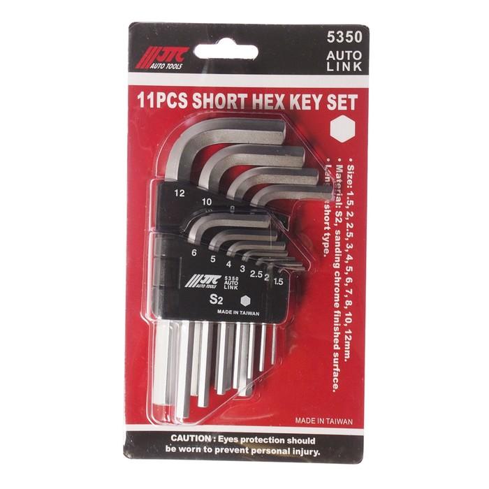Набор ключей шестигранных JTC-5350, Г-образных, 11 предметов