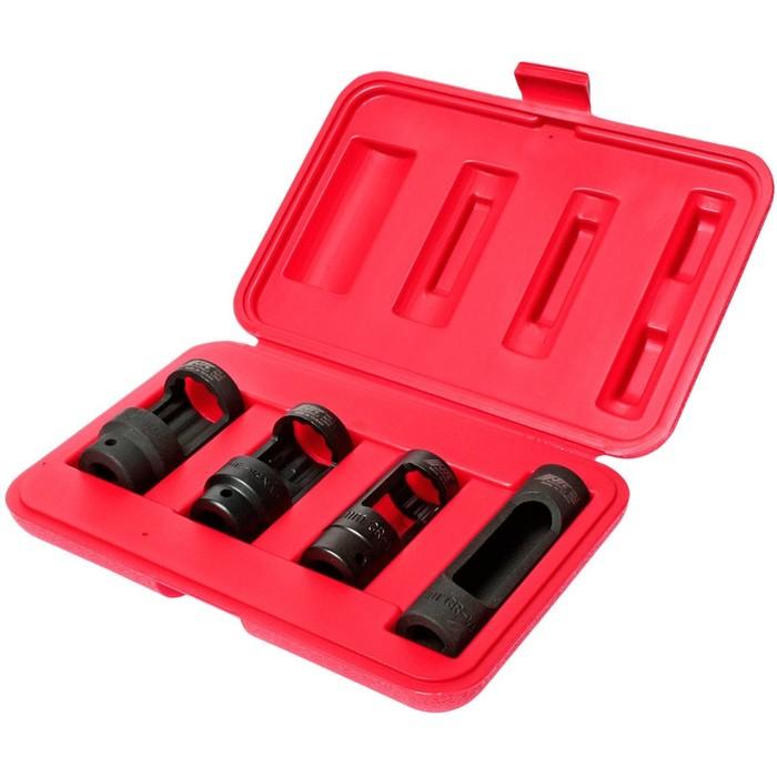 """Набор головок для снятия кислородных датчиков JTC-1543, 4 предмета, 1/2"""", 22-28 мм"""