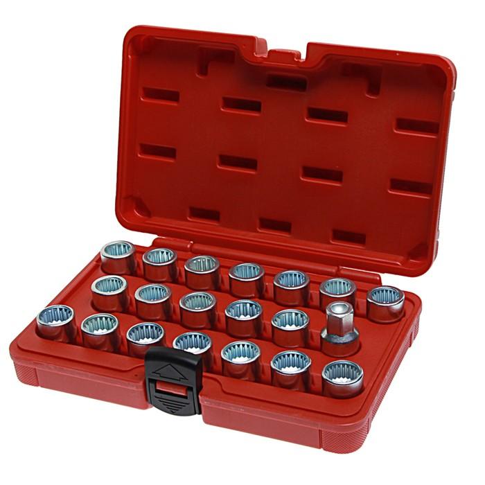 Набор головок для секретных болтов и гаек JTC-4561, VW, AUDI, SEAT, SKODA, PORSCHE