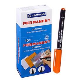 Маркер перманентный, Centropen 2846, 1.0 мм, оранжевый