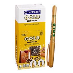 Маркер перманентный Centropen 2670, для декора, 2.5 мм, золотой
