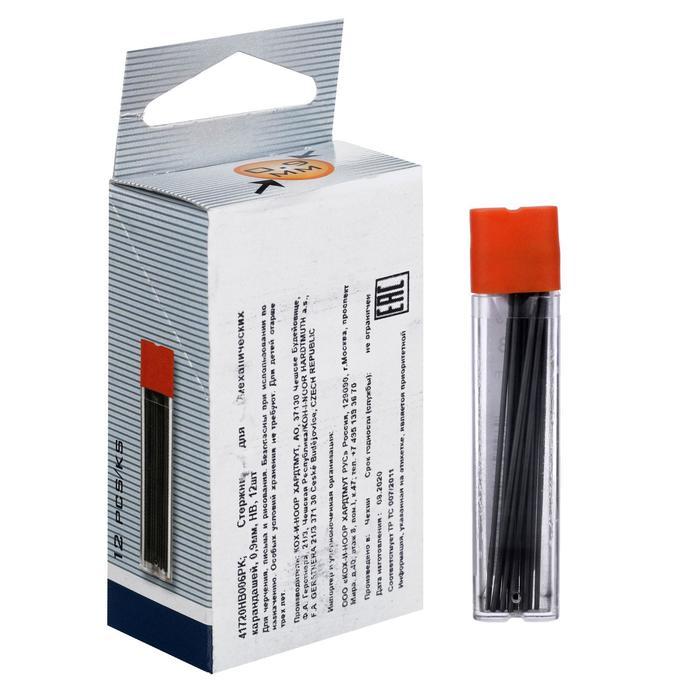 Грифели для механических карандашей 0.9 мм K-I-N 4172 НВ, 12 штук футляр