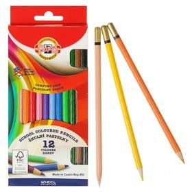 Карандаши 12 цветов Koh-I-Noor 2112, рифлёная поверхность, картонная упаковка, европодвес