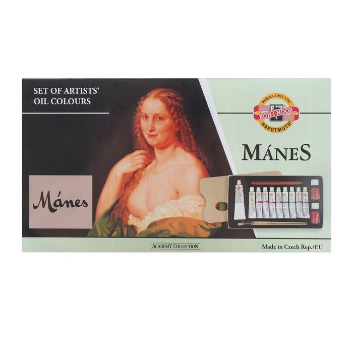 Набор масляных красок 10цв с принадлежностями 161601 K-I-N Manes