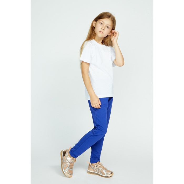 Брюки спортивные для девочки, рост 104 см, цвет синий Fwg-23-1