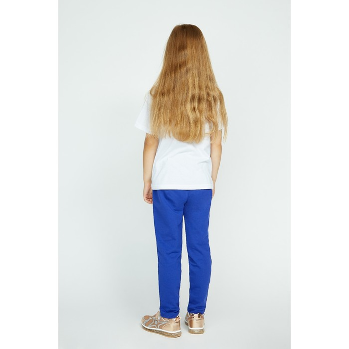Брюки спортивные для девочки, рост 110 см, цвет синий Fwg-23-1