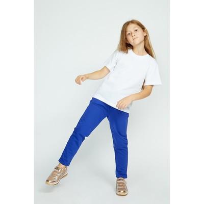 Брюки спортивные для девочки, рост 122 см, цвет синий Fwg-23-1