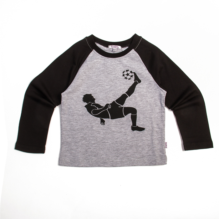 """Лонгслив для мальчиков """"Футбол"""", рост 92 см, цвет серый Fwb-13-1_М"""