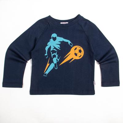 "Лонгслив для мальчиков ""Футбол"", рост 92 см, цвет синий Fwb-14-1_М"