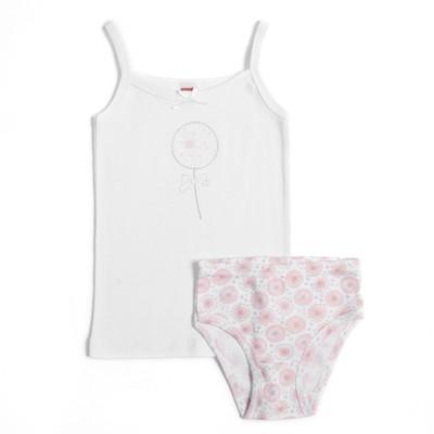 Комплект для девочки (майка,трусы), рост 110-116 см, цвет розовый CAK 3434
