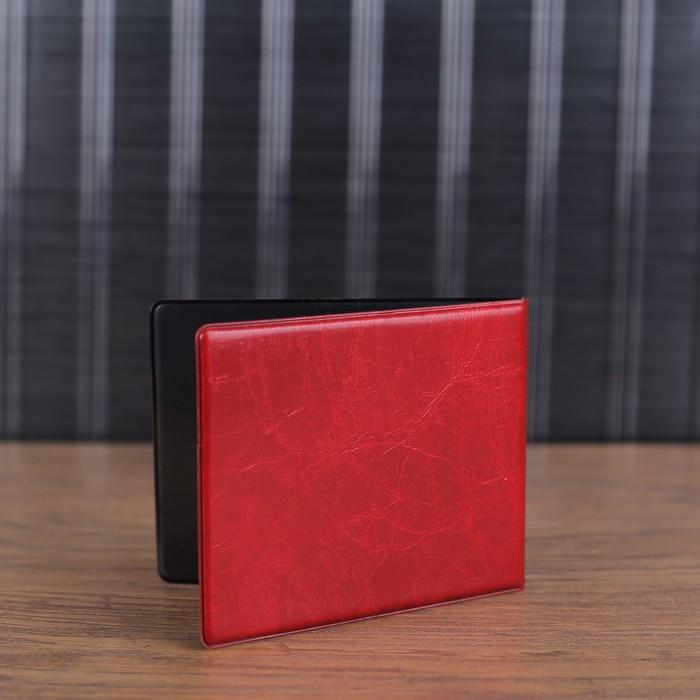 Обложка для удостоверения, герб, тиснение, цвет красный